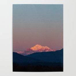 Sunset on Mount Baker Poster