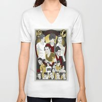 cargline V-neck T-shirts featuring Dis is Oos by cargline