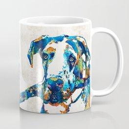 Great Dane Art - Stick With Me - By Sharon Cummings Coffee Mug