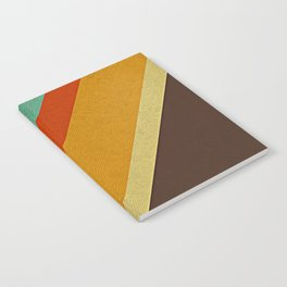 Retro 70s Color Palette Notebook