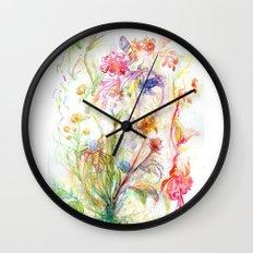 Floral Spree Wall Clock