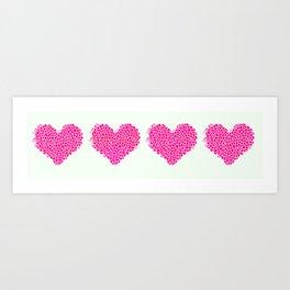 Heart to heart Art Print
