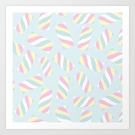 Marshmallow Meadows Art Print