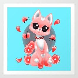 Dear BooBoo Kitty And Squeakie  Art Print