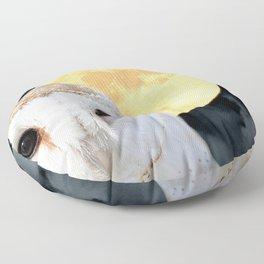 Barn Owl Bird Modern Country Art Modern Cottage Chic Art A493 Floor Pillow
