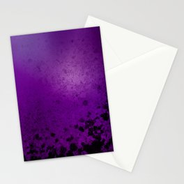 Abstract purple background with dirty dark spots Stationery Cards