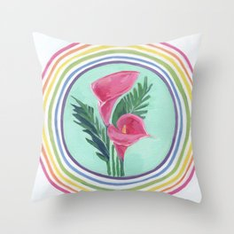 Cala Lily Blessing Throw Pillow