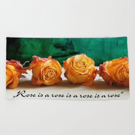 ROSE - quote Beach Towel