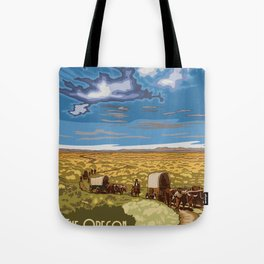 Vintage Poster - The Oregon National Historic Trail, Wyoming (2015) Tote Bag