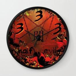 half evil pentagram Wall Clock