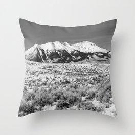 Winter in the Rockies - Mount Elbert on Snowy Winter Day in Colorado Throw Pillow