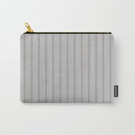 Light Grey Monochrome Vertical Stripes Pattern Carry-All Pouch
