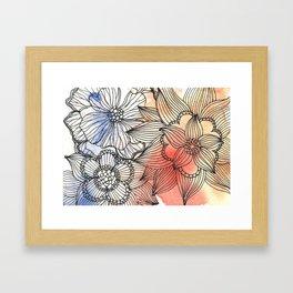 flower pattern crush Framed Art Print