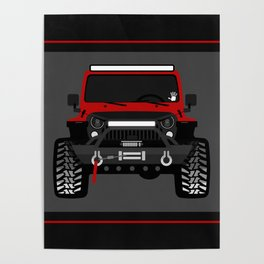 bionic jeep girl Poster
