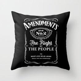 2nd Amendment Whiskey Bottle Throw Pillow