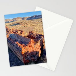 Petrified Logs in Petrified Forest National Park Stationery Cards