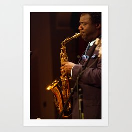 Myron Walden from the Brian Blade and the Fellowship Band Art Print