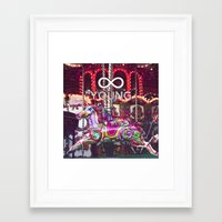 forever young Framed Art Prints featuring Forever Young by farsidian