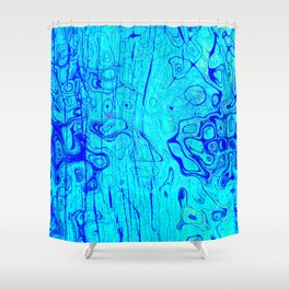 Abstract Oil on Water Shower Curtain