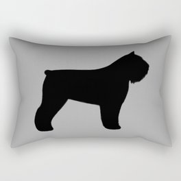 Bouvier des Flandres Silhouette Rectangular Pillow