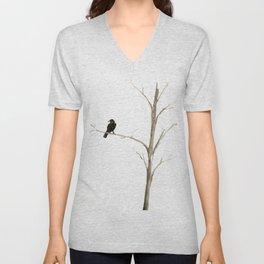 Raven in a Tree Unisex V-Neck