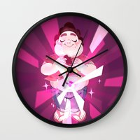 steven universe Wall Clocks featuring Steven Universe by Doki Rosi