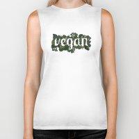 vegan Biker Tanks featuring Vegan by Kopie Creative