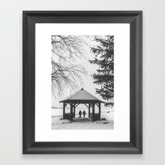 Winter is better with a friend Framed Art Print