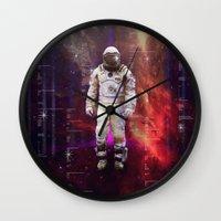 interstellar Wall Clocks featuring Interstellar by Tony Vazquez
