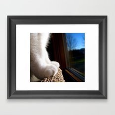 Fuzzy Feet Framed Art Print