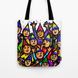 Merry Christmas New Year Celebration Tote Bag