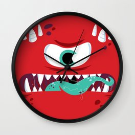 Baddest Red Monster! Wall Clock