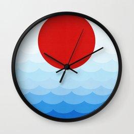Minimalist Landscape I Wall Clock