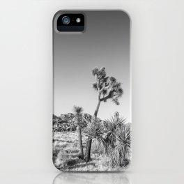 Minimalistic Joshua Tree National Park | Monochrome iPhone Case