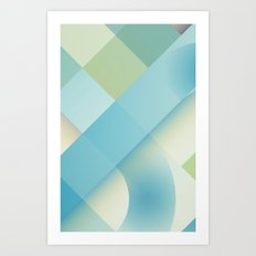 Pattern light blue  Art Print