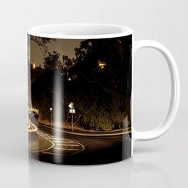 Long Exposure Light Trail Road At Night Coffee Mug