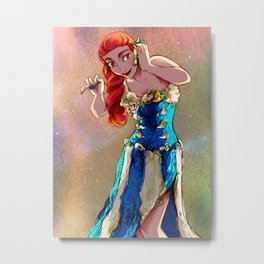 Seaside Gown Metal Print