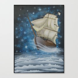 Sailing in the Stars Canvas Print