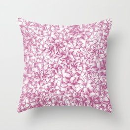 Plumeria Gorgeous Pattern Throw Pillow