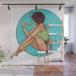 Bombshell with a Match Wall Mural