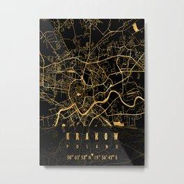 KRAKOW MAP POLAND Metal Print