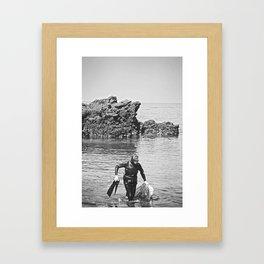 Real Woman Diver, Jeju Island Framed Art Print