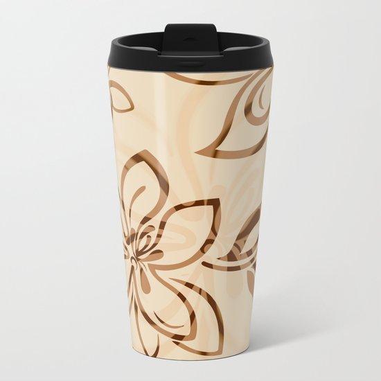 Brown Garden Metal Travel Mug