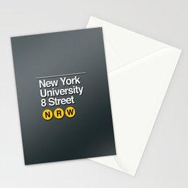 subway nyu sign Stationery Cards