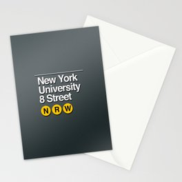 subway nyu sign Stationery Cards