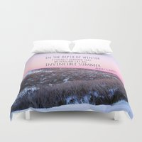 camus Duvet Covers featuring Winter by Michelle McConnell