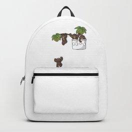 Cute Pocket Monkeys Backpack