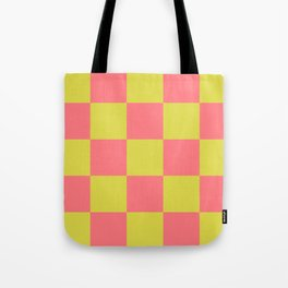 Trendy Genuine Chessboard Lycanthrope Tote Bag