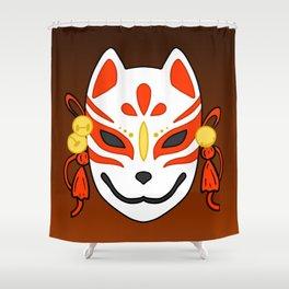 Kitsune Mask Shower Curtain