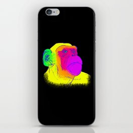 Neon Chimp iPhone Skin